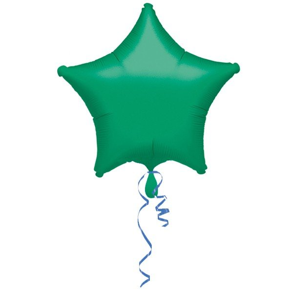 Anagram 19 Inch Star Foil Balloon - Green/Green