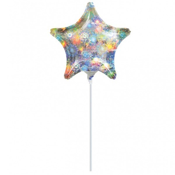 Anagram 19 Inch Star Foil Balloon - Holo Fireworks