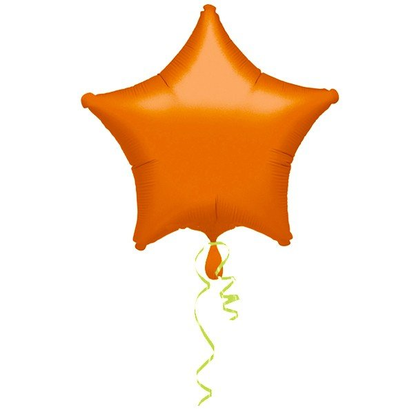 Anagram 19 Inch Star Foil Balloon - Orange/Orange