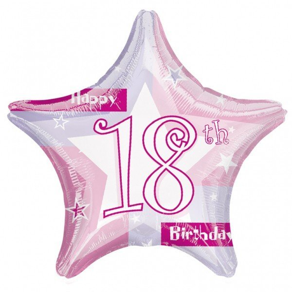 Anagram 19 Inch Star Foil Balloon - Pink Shimmer 18