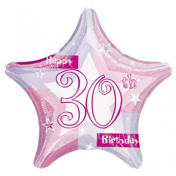 Anagram 19 Inch Star Foil Balloon - Pink Shimmer 30