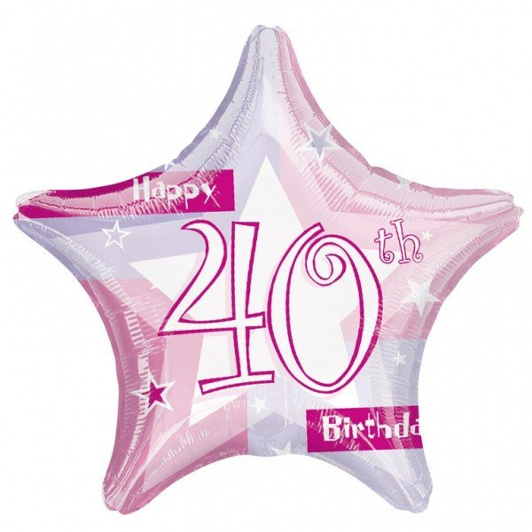 Anagram 19 Inch Star Foil Balloon - Pink Shimmer 40