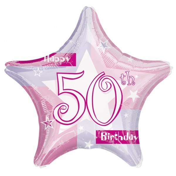 Anagram 19 Inch Star Foil Balloon - Pink Shimmer 50