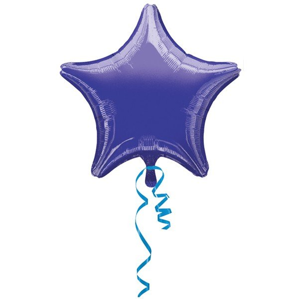 Anagram 19 Inch Star Foil Balloon - Purple/Purple