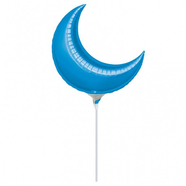 Anagram 26 Inch Crescent Foil Balloon - Blue
