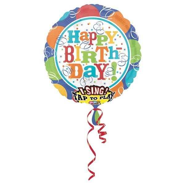 Anagram 32 Inch Circle Foil Balloon - Bal & Streamers Happy Birthday