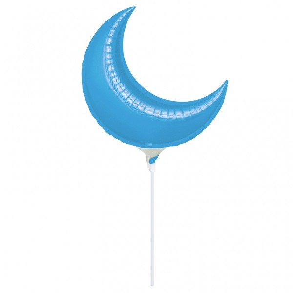 Anagram 35 Inch Crescent Foil Balloon - Blue