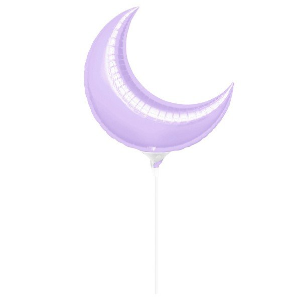 Anagram 35 Inch Crescent Foil Balloon - Lilac
