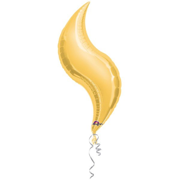 Anagram 36 Inch Curve Foil Balloon - Gold