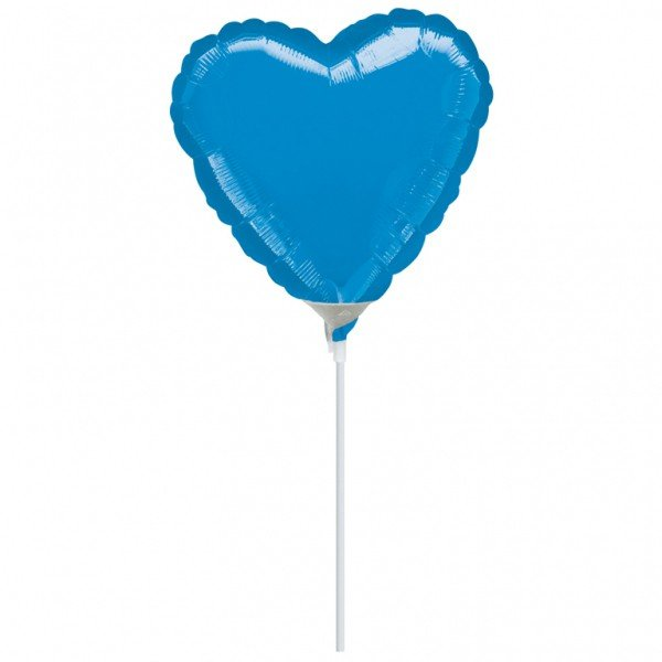 Anagram 4 Inch Heart Foil Balloon - Blue