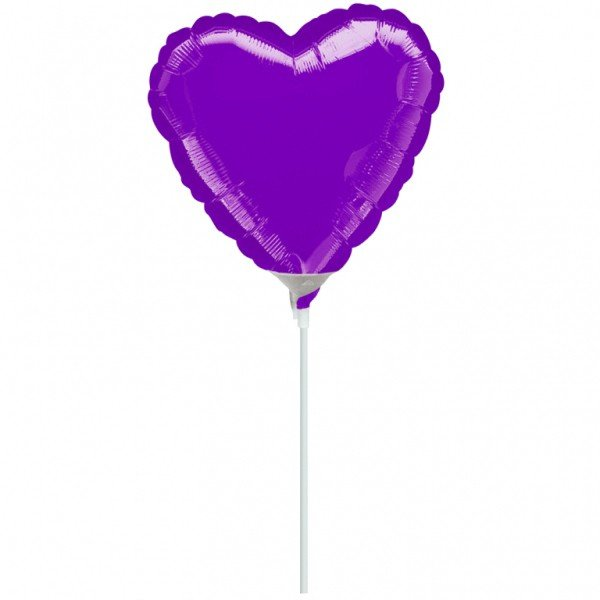Anagram 4 Inch Heart Foil Balloon - Purple