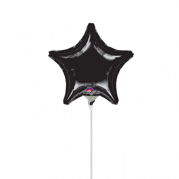 Anagram 4 Inch Star Foil Balloon - Black