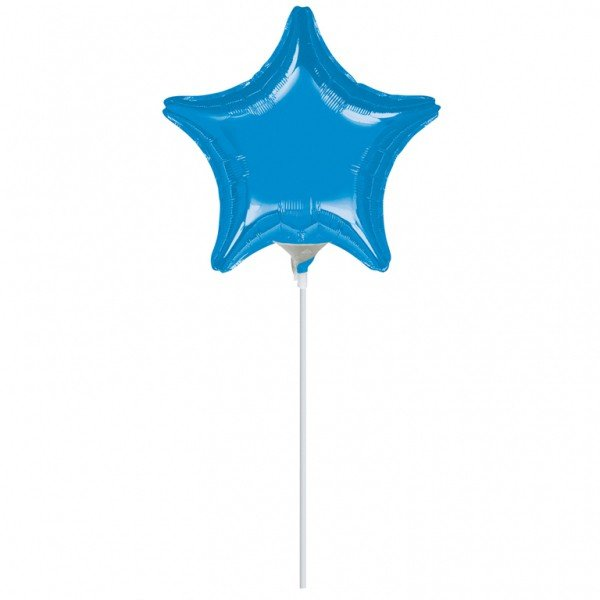 Anagram 4 Inch Star Foil Balloon - Blue