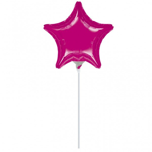 Anagram 4 Inch Star Foil Balloon - Fuchsia