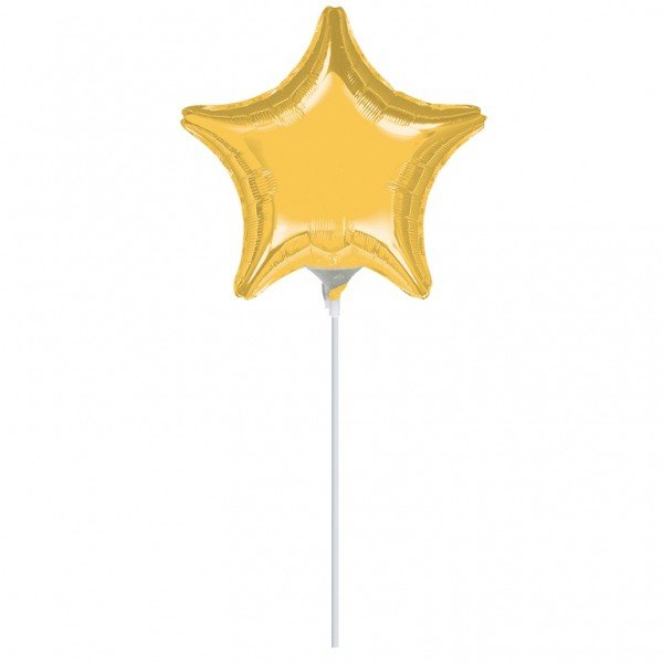 Anagram 4 Inch Star Foil Balloon - Gold