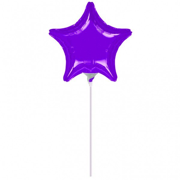 Anagram 4 Inch Star Foil Balloon - Purple