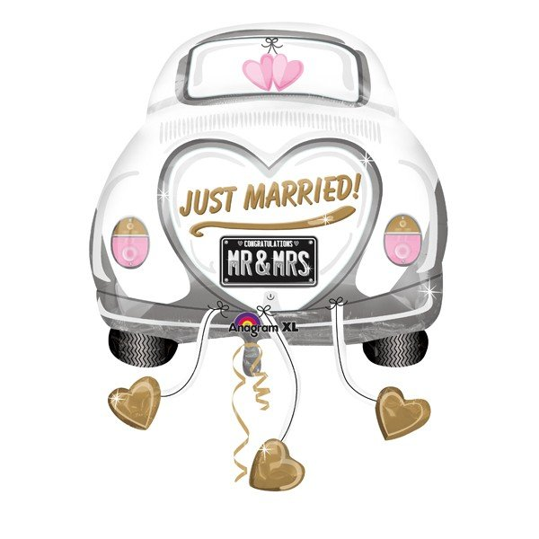 Anagram Supershape - Just Married Wedding Car