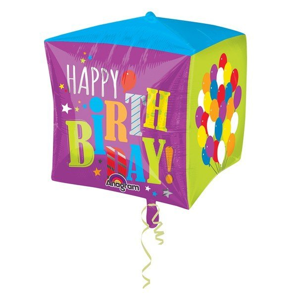 Anagram Supershape Cubez - Birthday Balloons