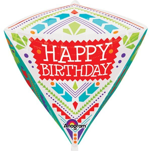 Anagram Supershape Diamondz - Scandi Happy Birthday