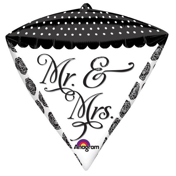 Anagram Supershape Diamondz - Sophisticated Mr & Mrs