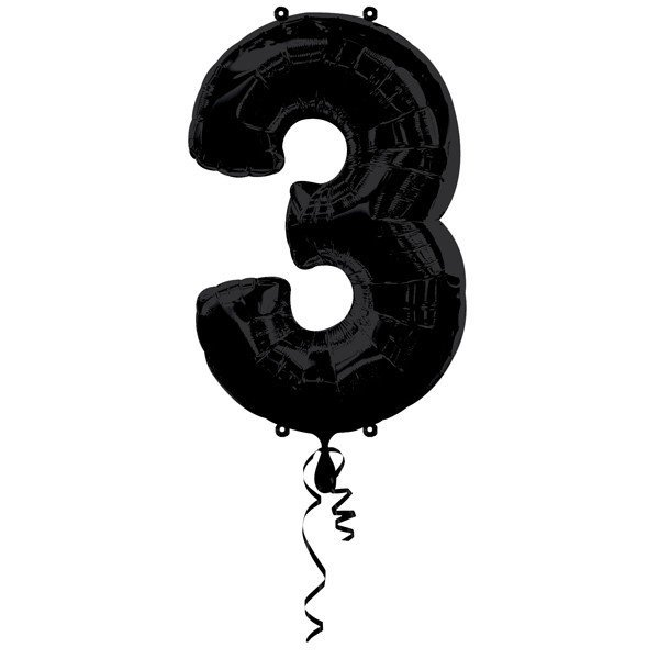 Anagram Supershape Number - 3 Black