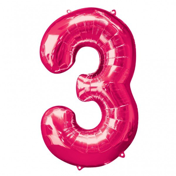 Anagram Supershape Number - 3 Pink