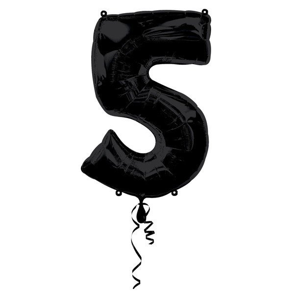 Anagram Supershape Number - 5 Black