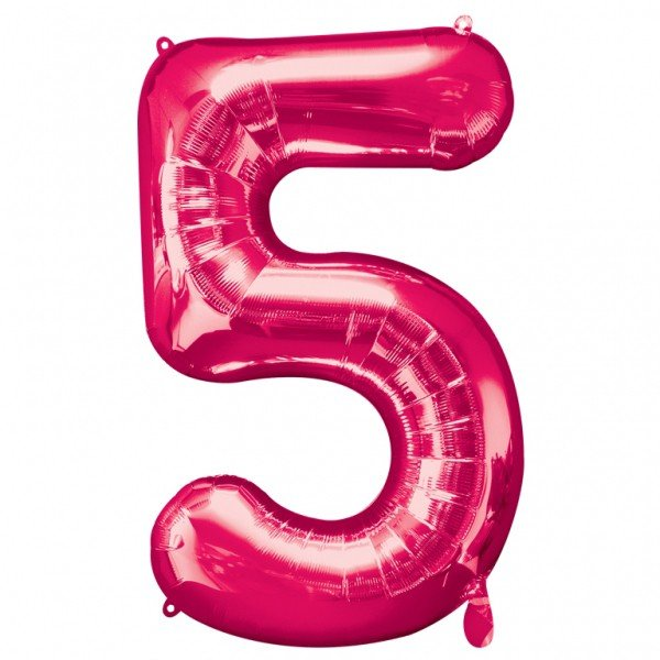 Anagram Supershape Number - 5 Pink