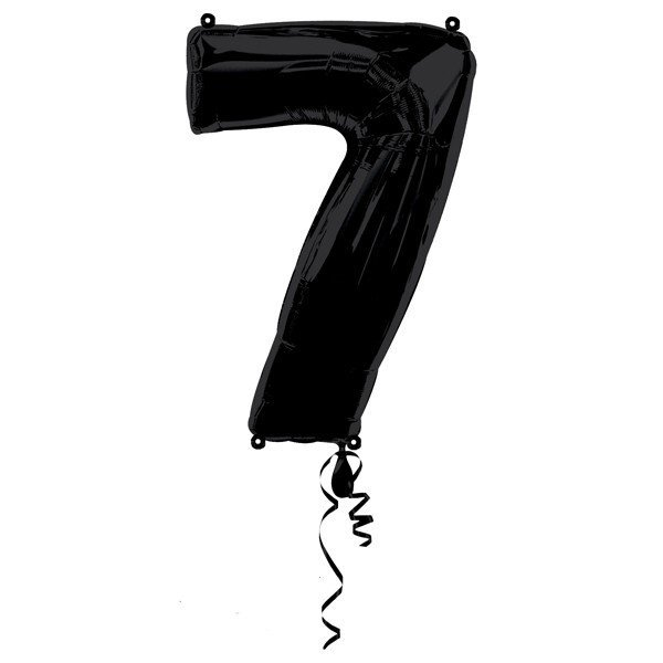 Anagram Supershape Number - 7 Black