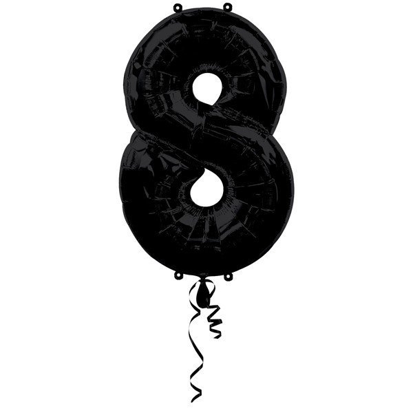 Anagram Supershape Number - 8 Black