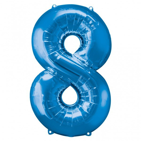 Anagram Supershape Number - 8 Blue