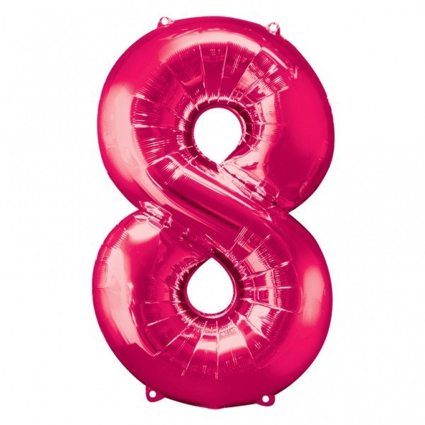 Anagram Supershape Number - 8 Pink