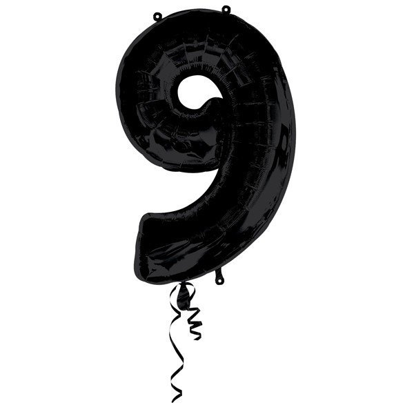 Anagram Supershape Number - 9 Black