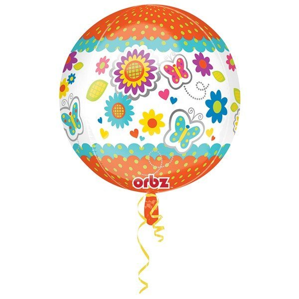 Anagram Supershape Orbz - Get Well Floral Butterfly