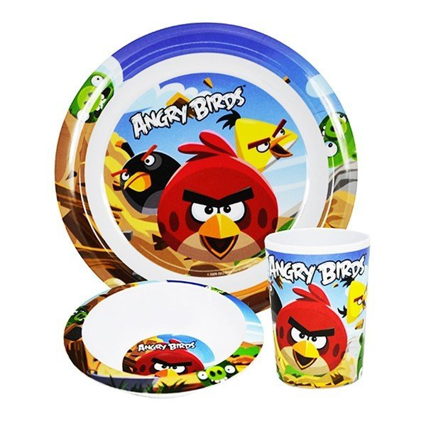 Angry Birds 3PC Dinner Set