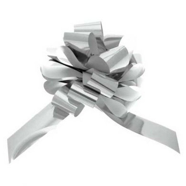 Apac 50mm Pull Bows - Metallic Silver
