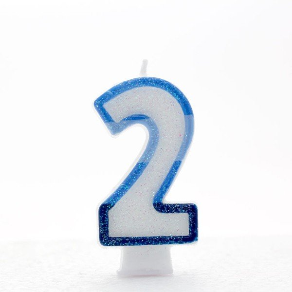 Apac Blue Number Candles - 2