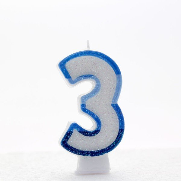Apac Blue Number Candles - 3