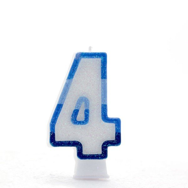 Apac Blue Number Candles - 4