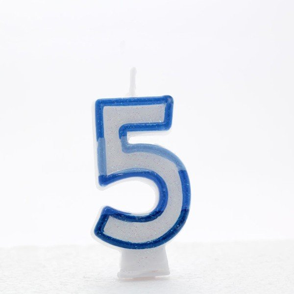 Apac Blue Number Candles - 5