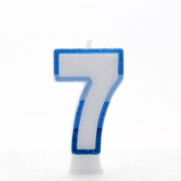Apac Blue Number Candles - 7