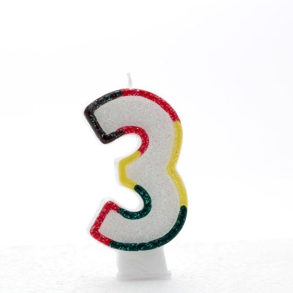 Apac Multicolour Number Candles - 3