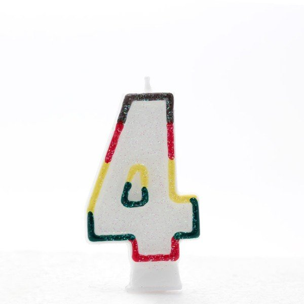 Apac Multicolour Number Candles - 4