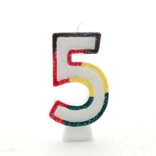 Apac Multicolour Number Candles - 5