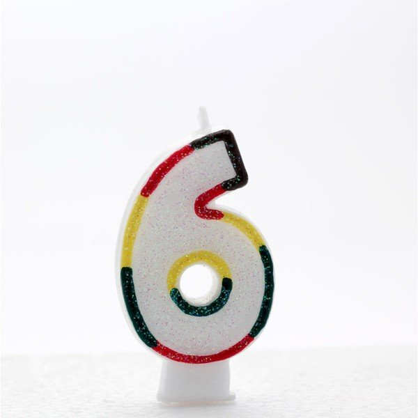 Apac Multicolour Number Candles - 6