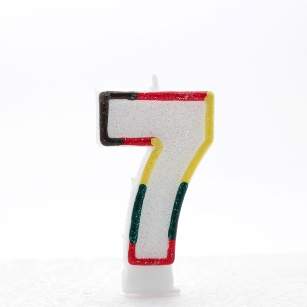 Apac Multicolour Number Candles - 7