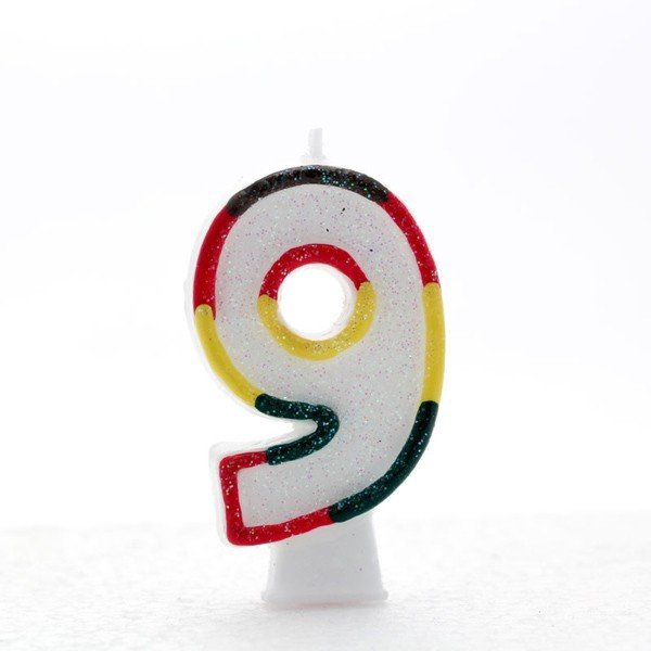 Apac Multicolour Number Candles - 9