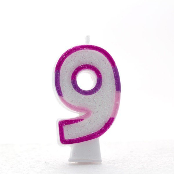 Apac Pink Number Candles - 9