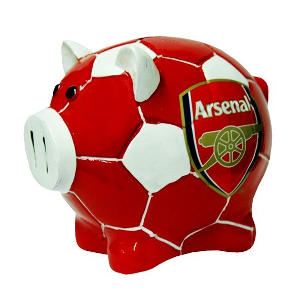 Arsenal Ball Base Piggy Bank
