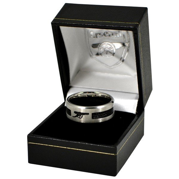 Arsenal Black Inlay Ring - Medium